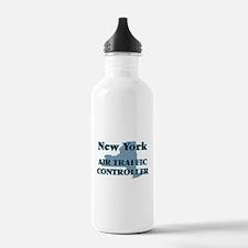 New York Air Traffic C Water Bottle