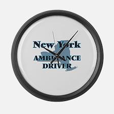 New York Ambulance Driver Large Wall Clock