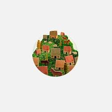 Wooden Village Mini Button
