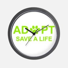 Unique Save a life adopt a pet adoption animal rescue Wall Clock