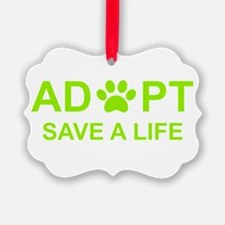 Cute Adopt shelter dog Ornament