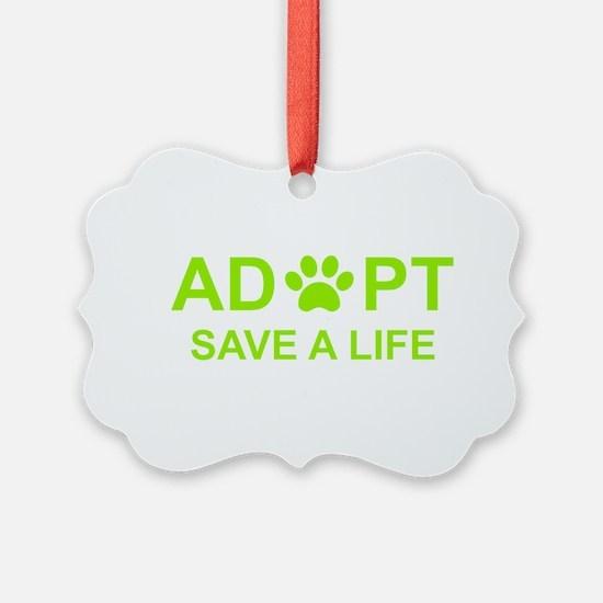 Cool Dog adoption Ornament