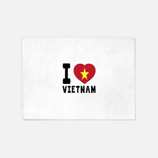 I Love Vietnam 5'x7'Area Rug