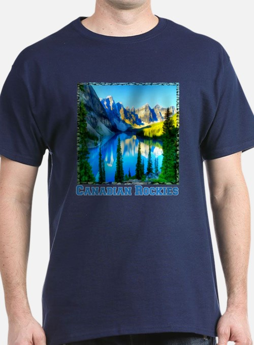 Canadian rockies t shirts shirts tees custom canadian for Personalized t shirts canada