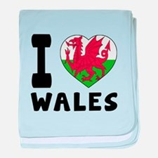 I Love Wales baby blanket