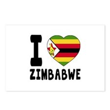 I Love Zimbabwe Postcards (Package of 8)