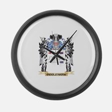 Occleshaw Coat of Arms - Family C Large Wall Clock