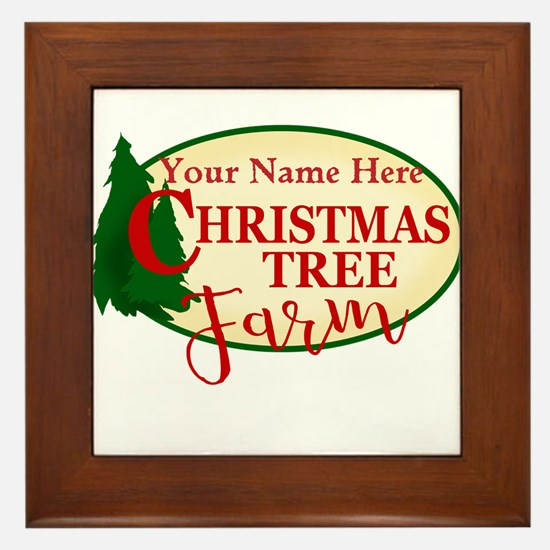 Christmas Tree Farm Framed Tile