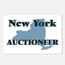 New York Auctioneer Postcards (Package of 8)