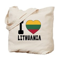 I Love Lithuania Tote Bag