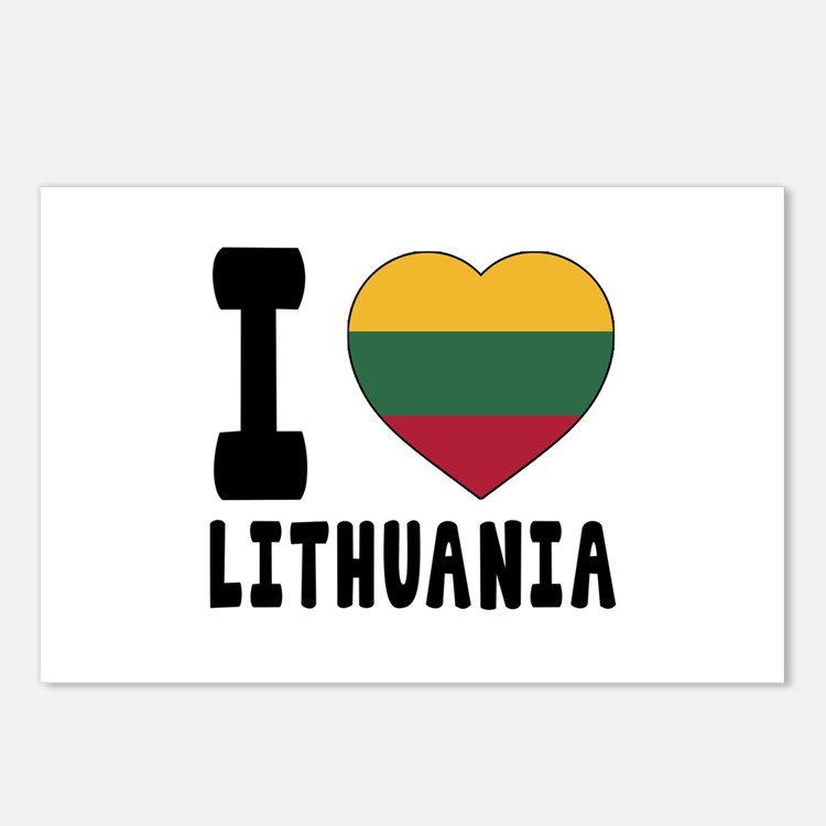 I Love Lithuania Postcards (Package of 8)