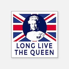 "Queen Elizabeth II:  Long L Square Sticker 3"" x 3"""