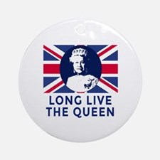 Queen Elizabeth II:  Long Live the  Round Ornament