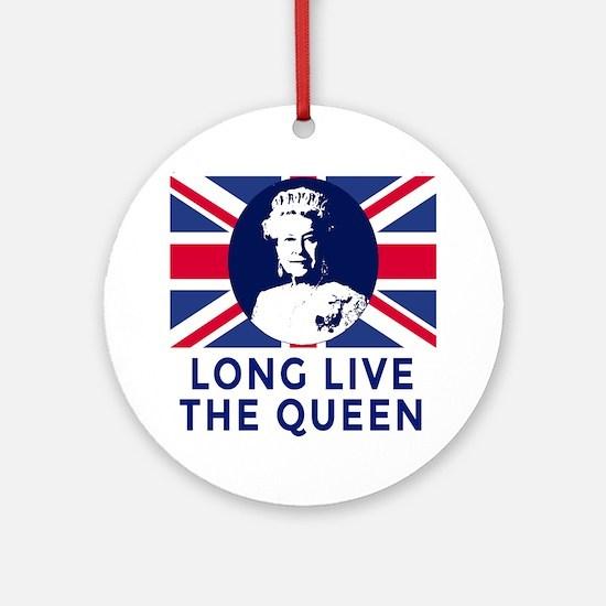 Queen Elizabeth II:  Long Live the  Round Ornament