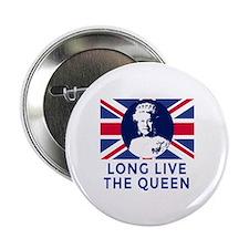 """Queen Elizabeth II:  Long Live the Qu 2.25"""" Button"""