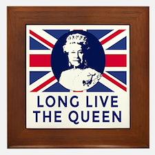 Queen Elizabeth II:  Long Live the Que Framed Tile