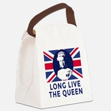 Queen Elizabeth II:  Long Live th Canvas Lunch Bag