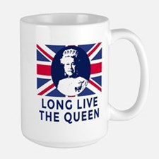 Queen Elizabeth II:  Long Live the Quee Large Mug
