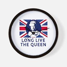 Queen Elizabeth II:  Long Live the Quee Wall Clock