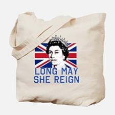 Queen Elizabeth II:  Long May She Reign Tote Bag