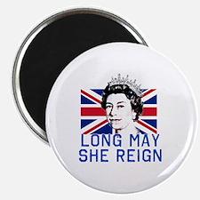Queen Elizabeth II:  Long May She Reign Magnet