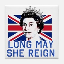 Queen Elizabeth II:  Long May She Rei Tile Coaster