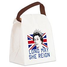 Queen Elizabeth II:  Long May She Canvas Lunch Bag
