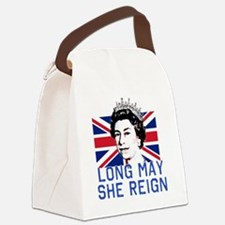Queen Elizabeth II:  Long May She Canvas Lunch Bag