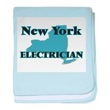 New York Electrician baby blanket