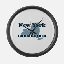 New York Embroiderer Large Wall Clock