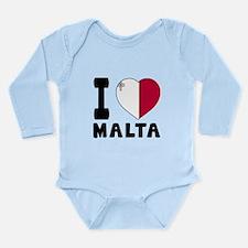 I Love Malta Long Sleeve Infant Bodysuit