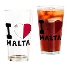 I Love Malta Drinking Glass