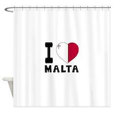 I Love Malta Shower Curtain