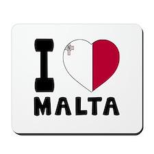I Love Malta Mousepad