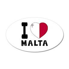 I Love Malta Wall Decal