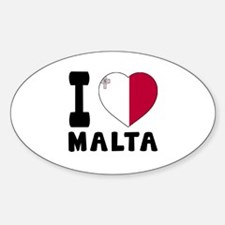 I Love Malta Decal