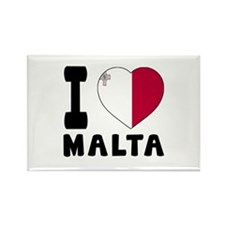 I Love Malta Rectangle Magnet (10 pack)