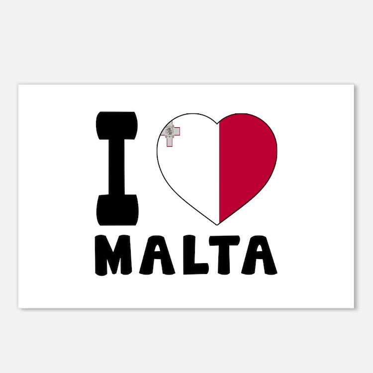 I Love Malta Postcards (Package of 8)