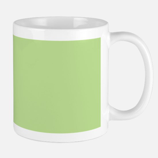 Green Fleur-de-lis Striped Pattern Mugs
