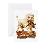 VICTORIAN POODLE ART Greeting Card
