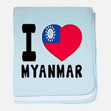 I Love MYANMAR baby blanket