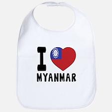 I Love MYANMAR Bib