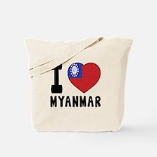 I Love MYANMAR Tote Bag