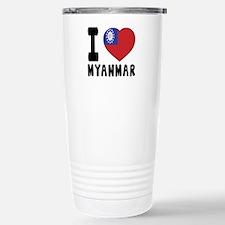 I Love MYANMAR Travel Mug