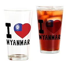 I Love MYANMAR Drinking Glass