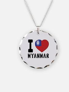 I Love MYANMAR Necklace