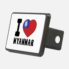 I Love MYANMAR Hitch Cover
