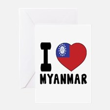 I Love MYANMAR Greeting Card