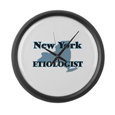 New York Etiologist Large Wall Clock