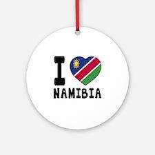 I Love Namibia Round Ornament